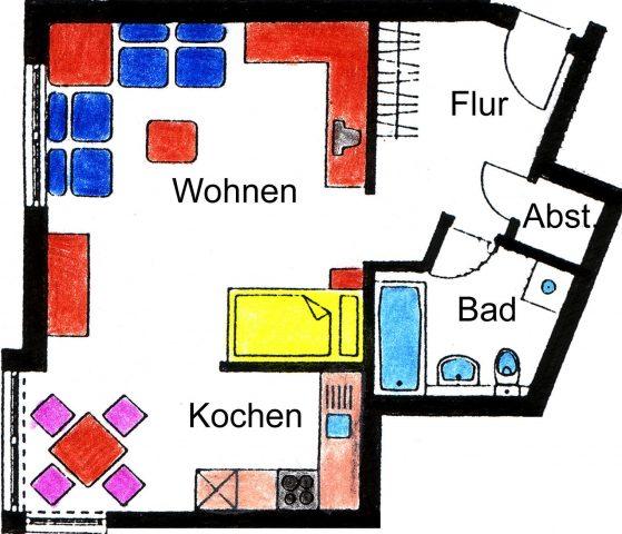 1-Raumwohnung in bester Wohnlage des Südviertels von Ilmenau