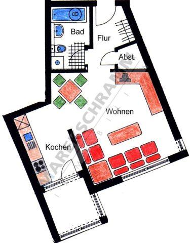 1-Raumwohnung im Südviertel von Ilmenau