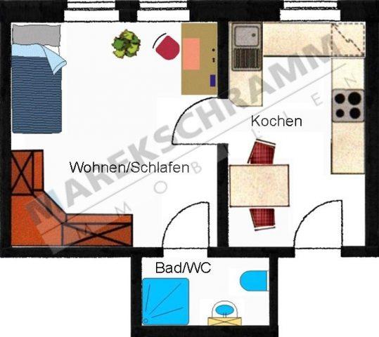 1-Raumwohnung in Ilmenau