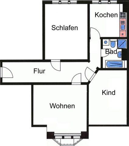 neu sanierte 3-Raumwohnung in Ilmenau