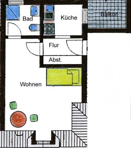 1-Raumwohnung in Ilmenau in bester Innenstadtlage