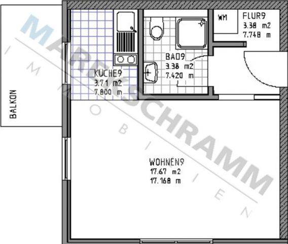 1-Raumwohnung in Ilmenau - mit ablösbarer Küche