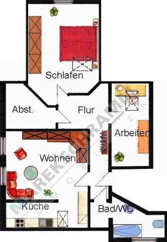 sonnige 3-Zimmerwohnung in ruhiger Lage von Ilmenau