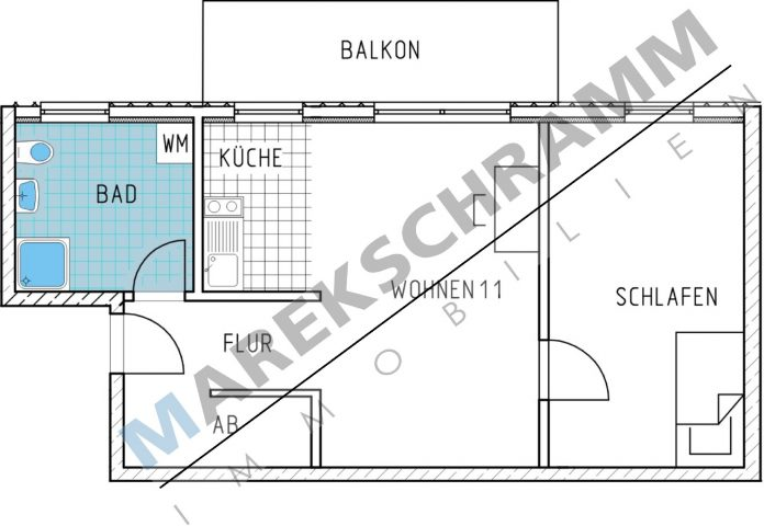 2-Raumwohnung in neugebauter Appartmentanlage direkt an der Uni und direktem Zugang zu FeM e.V.