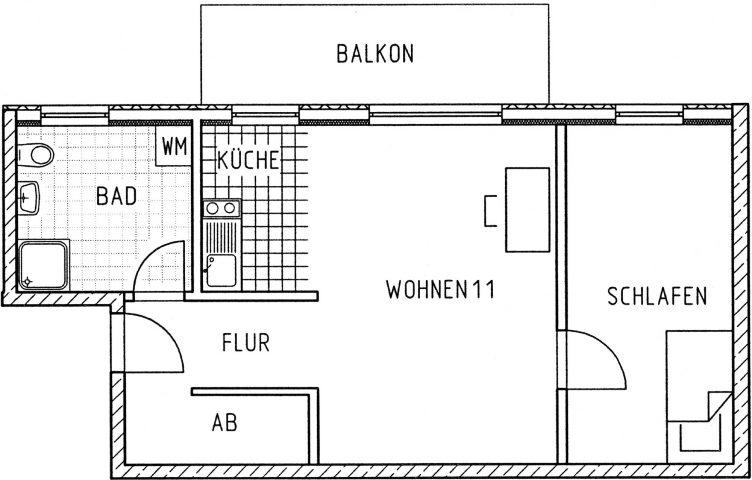 2-Raumwohnung in neugebauter Appartmentanlage direkt an der Uni und Zugang zum schnellen Uninetz FEM e.V.